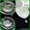 プラチナ ツバル ホース コイン 1/25oz ペンダント4g Pt900 E2