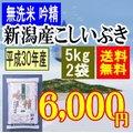 無洗米吟精 新潟産こしいぶき10kg(5kgx2袋)平成28年産【送料無料】(一部地域を除く)