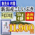無洗米吟精 新潟産こしいぶき20kg(5kgx4袋)平成28年産【送料無料】(一部地域を除く)