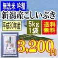 無洗米吟精 新潟産こしいぶき5kg(5kgx1袋)平成28年産【送料無料】(一部地域を除く)