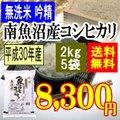 無洗米吟精 南魚沼産コシヒカリ10kg(2kgx5袋)平成28年産【送料無料】(一部地域を除く)