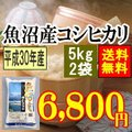魚沼産コシヒカリ10kg(5kgx2袋)(平成28年産)【送料無料】(一部地域を除く)