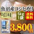 魚沼産コシヒカリ5kg(平成28年産)【送料無料】(一部地域を除く)