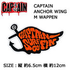 CAPTAINFIN,キャプテンフィン,ワッペン●CAPTAIN ANCHOR WING L WAPPEN