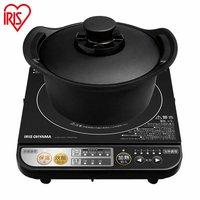 【送料無料】無加水鍋 無水鍋付き IH調理器 DRC-18 ブラック アイリスオーヤマ