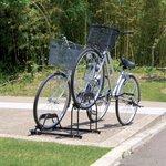 自転車置き場 自転車スタンド2台用 BYS-2 ブラック [アイリスオーヤマ]