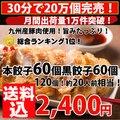 【メガ盛り】黒餃子60個本餃子60個!合計120個約20人前!送料込[複数購入はおまけ付]