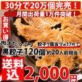餃子/セット【5000万個突破!】黒豚子!合計120個!約20人前【送料込】