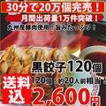 餃子/セット【5000万個突破!】黒餃子!合計120個!約20人前分!【送料込】