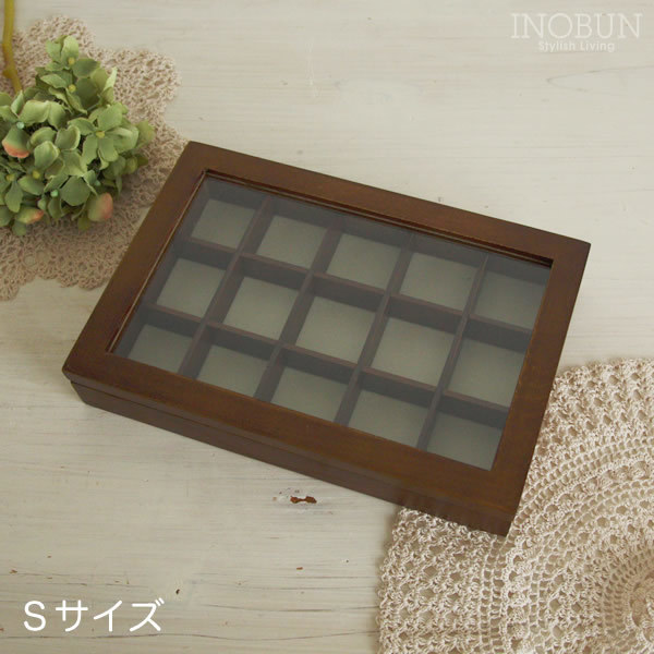 ジュエリーボックス 木製 アクセサリーケース 【SKBOX】I-11-BR