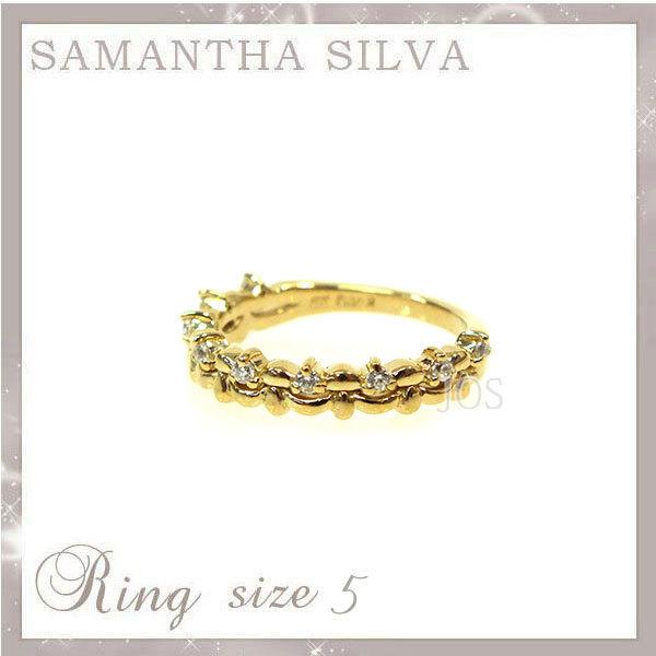 サマンサタバサ アクセサリー Samantha Silva サマンサシルバ SV CZ(CR) ストーンリン.