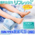 丸洗いできる足枕(花柄)