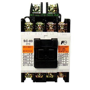 富士電機 [SC-N5 COIL-100V 2A2B] 標準形電磁接触器(ケースカバーなし) SCN5COIL100V2A2B【送料無料】