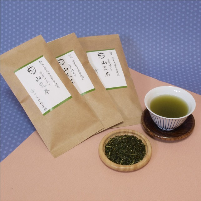 【ゆしかざ】100g 知覧・鹿児島産の上級茶葉を使用した渋みと甘みのバランス良い深蒸し煎茶【メール便ご利用で送料無料】