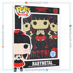 BABYMETAL Rock Poster Pop T-Shirt Tシャツ(L)◆新品Ss【ゆうパケット非対応/送料680円~】【即納】