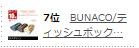 7位BUNACO/ティッシュボック…