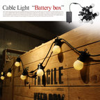 "Cable Light ""Battery box""(ケーブルライト ""バッテリーボックス"") 電池式LEDライト"