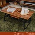 センターテーブル 木製 テーブル メラミン ローテーブル リビングテーブル アイアン パイプ 北欧(代引不可)【送料無料】