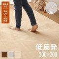 マイクロファイバーフランネルラグマット 185x185cm 正方形 洗える M