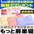 【送料無料】東京西川  医師がすすめる健康枕「もっと肩楽寝」約50×34cm洗える枕 ウォッシャブル☆プレゼントに☆