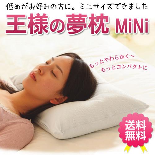 【送料無料】王様の夢枕 ミニ ビーズ枕 約46×30×9cm 吸水速乾 枕カバー付〔MO-YUMEM〕