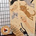 【ゆうメール】両面プリント のれん ねこ 猫 リバーシブル 洗える 暖簾 noren サイズ:幅85cm×丈150cm