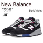【送料無料】New Balance 998/Black/Violet【ニューバランス】【MADE IN USA】【M998BK】