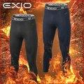 【EXIO】エクシオ コンプレッションウェア プレミアム起毛 防寒ロングタイツ 前開きタイプ