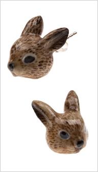 イギリス・ロンドンのブランド And Mary(アンドマリー)野ウサギのピアス