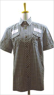 REPUBLIQUE (リパブリック)黒白チェックのシャツ