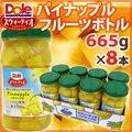 """""""DOLE スウィーティオ フルーツボトル パイナップル"""" 665g(固形量375g)×8本"""