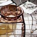 バスチェア 「アクリル製エクセレントバスチェア&洗面器セット」【バスチェア セット アクリル バスチェアー アクリル セット ウォッシュボール 洗面器 セット ダミエ】【送料無料】