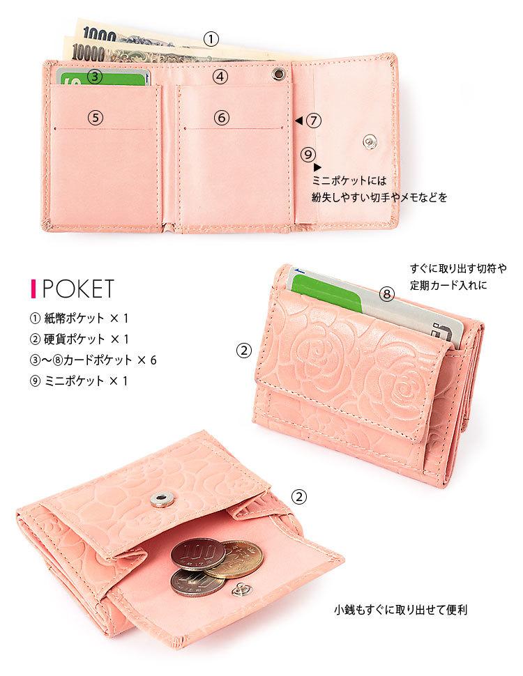 40カラーミニ財布・ディテール・紙幣・コインケース・パスケース