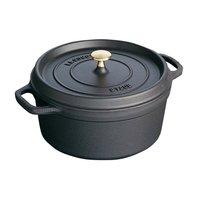 ストウブ ピコ・ココット ラウンド 10cm ブラック 40500-101 [ストウブ: キッチン用品 調理用具・器具 鉄鍋][STAUB]