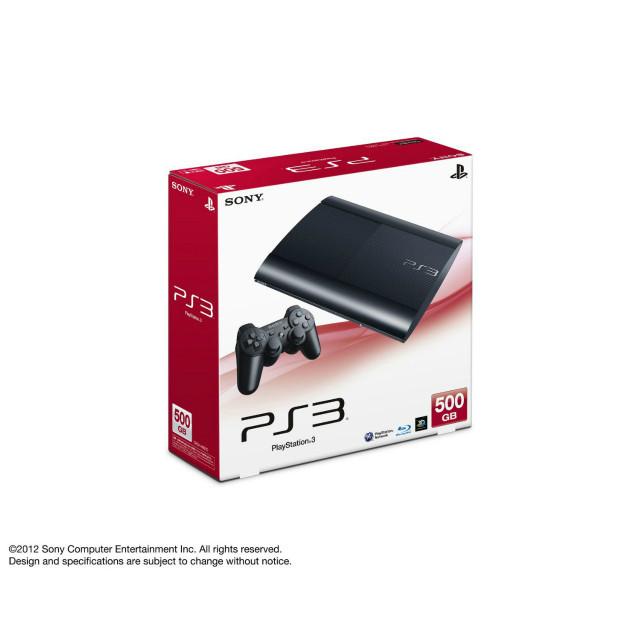 【中古即納】[本体][PS3]プレイステーション3 HDD500GB チャコール・ブラック(CECH-4000C)(20121004)