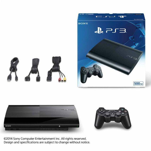 【新品即納】[本体][PS3]PlayStation3 プレイステーション3 チャコール・ブラック 500GB(CECH-4300C)(20140828)