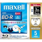 【Maxell(マクセル)】BR25VFWPC.5S  (BD-R 6倍速 5枚組)