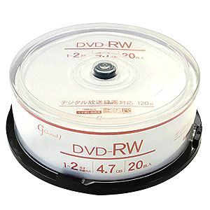 Good-J GJRW47-2X20PW [DVD-RW 2倍速 20枚組]