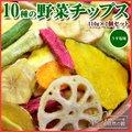 送料無料 10種の野菜チップス 110g×2 野菜チップス
