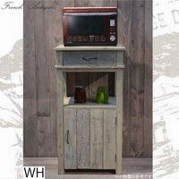 フランス人デザイナー フレンチアンティーク風 カップボードディスプレイ FL-27 アンティーク調 カントリー調 古木 キッチン リビング 収納 コンパクト 収納 木製 ホワイト ブラウン