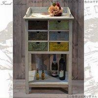 フランス人デザイナー フレンチアンティーク風 サイドボード DRAW-43 アンティーク調 カントリー調 古木 木製 グレイ キッチン リビング 収納 キャビネット