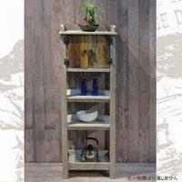 フランス人デザイナー フレンチアンティーク風 カップボード KD-02 アンティーク調 カントリー調 古木 アイアン ディスプレイ型 棚 キッチン リビング 収納 収納棚 フリーラック 木製 棚