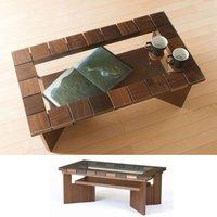 日本製 国産 高品質 コット 95 リビングテーブル 天板:5mm強化ガラス 7素材から選べる ローテーブル センターテーブル ソファテーブル