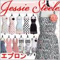 ジェシースティール エプロン 送料無料 Jessie Steele かわいい ドレス 人気 ブランド フリル 保育士 新婚 結婚祝い ワンピース おしゃれ ブラック