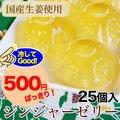 ジンジャーゼリー(国産生姜使用)585g(23g×25個入)500円ぽっきり!ピリッとした刺激がクセになる美味しさ。凍らせてジンジャーシャーベットも美味!しょうが/ショウガ/syouga/スイーツ/