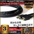 HDMIケーブル 高性能 3.0m ver.1.4 FullHD/3D対応/Blu-ray【翌日配達】【配送種別:A】