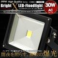 LED投光器 30W AC 100V~200V対応 ケーブル長5m 300W相当 白昼色 防塵防水仕様【翌日配達】【配送種別:B】