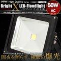 LED投光器 50W AC 100V~200V対応 ケーブル長5m 500W相当 白昼色 防塵防水仕様【翌日配達】【配送種別:B】