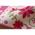 デスクカーペット 女の子 花柄 『パミュ ツー』 ピンク 110×133cm(代引不可)【送料無料】