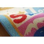 デスクカーペット 女の子 アニマル柄 『エービ』 ブルー 110×133cm(代引不可)【送料無料】